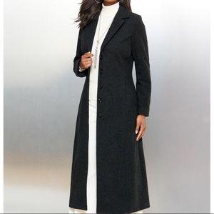 100% Wool Heavyweight Tall Extra Long Trench Coat